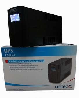 UPS 1200VA UNITEC PARA PROTECCION DE TUS EQUIPOS