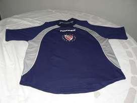Camiseta de Entrenamiento de Independiente Azul, Gris y Blanco Topper Talle M