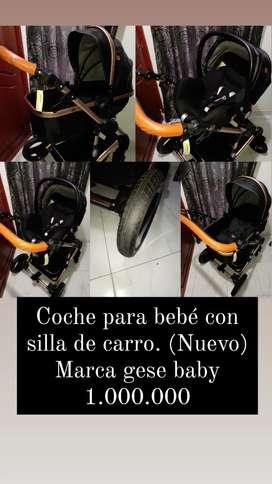 Coche Marga gesse baby, nuevo!! Con silla de carro.