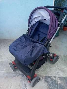 Coche de bebé con silla para carro