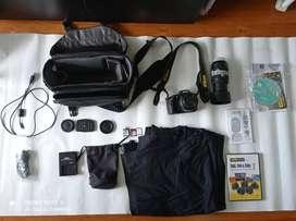 Cámara Nikon D5100 + Accesorios + Lente