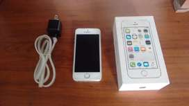 Iphone 5S plata 16 gb, huella funcional