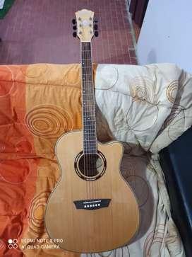 Guitarra electroacustica washburn nueva con estuche rigido