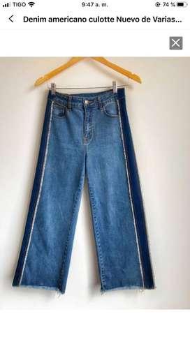 Jeans Culotte americano