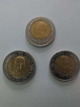 Monedas ecuatorianas año 1995 de 100, 100vfr, 500 ,sucres