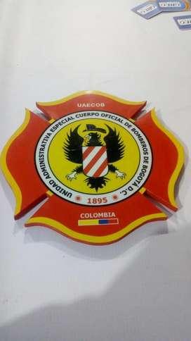 Cuadro de Bomberos, escudo