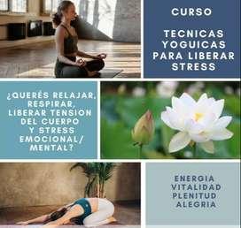 "Curso ""Yoga para liberar Stress"""