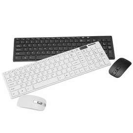 Venta Mini Combo Teclado Y Mouse Inalámbrico +silicona K03