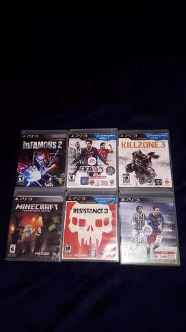 Vendo juegos de Play 3 (combo)