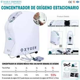 CONCENTRADOR DE OXÍGENO ESTACIONARIO. Certificados / Importado.