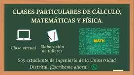 Clases virtuales de cálculo, matemáticas