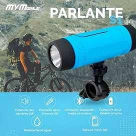 Parlante Bluetooth Linterna Resistente a Lluvia, SOUND HD, Para Bicicleta, Portátil, Micro SD, FM, Power Bank, My Mobile