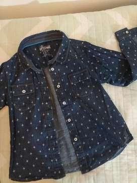 Camisa de Jean Estampada Niña Talle 6
