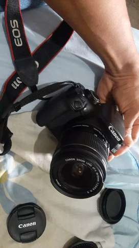 Canon Rebel t6 + lente 18-55mm, correa, cargador y cable USB 10/10
