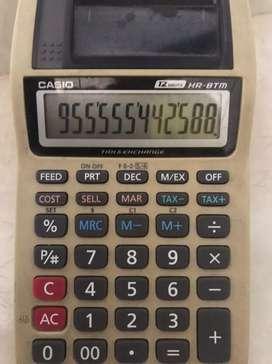 Calculadora eléctrica Casio tipo contador