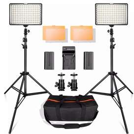 Kit Fotografia Luces 160 Led Estudio Luz Dimeramizable 3200k