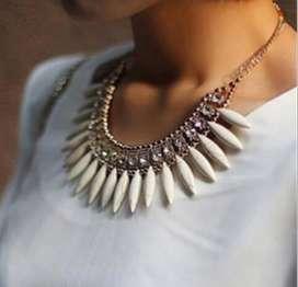 Collar Cristal Opaco