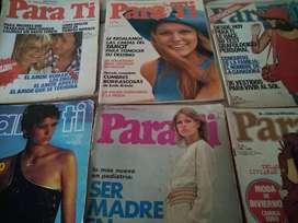 Para ti---revista 1971 a 1977 c/u  y  moldes de ropa