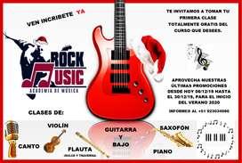 CLASES DE CANTO, VIOLÍN, GUITARRA, PIANO Y FLAUTA