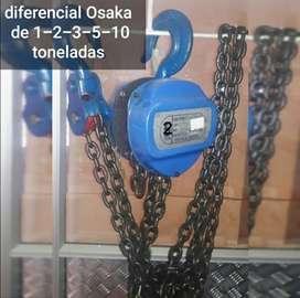 Diferencial Osaka de 2 toneladas con 3metros de cadena