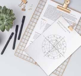 Lectura de tu carta natal, revolucion solar e informe vocacional