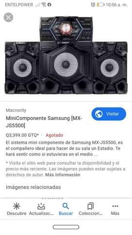 Equipo de sonido Samsung 2150 w