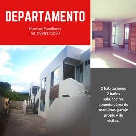 venta de departamento nuevo a estrenar con 2 habitaciones, en Huertos Familiares, Ibarra, Imbabura