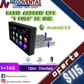 RADIO PARA CARRO ANDROID PANTALA 7 PULGADAS DE 1DIN EN OFERTA UNICA DE NEGOVENTAS