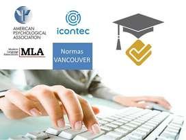 Normas para trabajos escritos: Apa,Icontec, vancouver, MLA