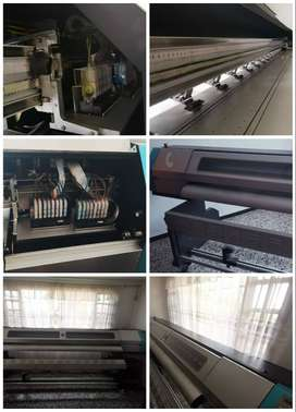 Plotter de impresión digital Galaxy 2.5 metros + Laminadora 1.60 metros + Rack para material de impresión