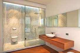 puerta de ducha, vidrio templado