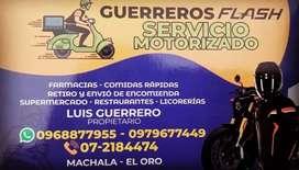 *SERVICIO MOTORIZADO GUERREROS FLASH MACHALA *