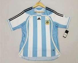 Camiseta seleccion Argentina titular Mundial 2006 Riquelme Messi Aimar