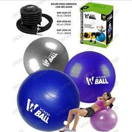 Balon para gimnasia con inflador