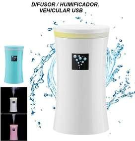 Difusor De Aroma Ambiental Auto Humidificador Purificador