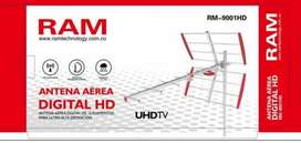 !!ANTENA TDT FULL SEÑAL INCLUYE 10 MTRS CABLE UHD