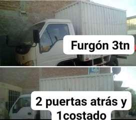 Alquilo camion  de 3ton con 2 puertas atrás y 1 al costado Piura