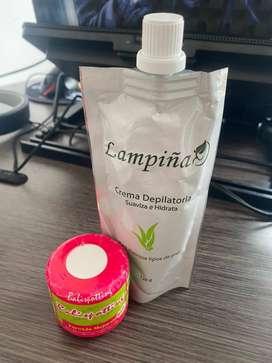 Combo Crema Lampiña Depiladora Hidratante+ Crema Aclararte Desmanchadora Corporal