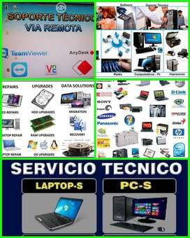 Servicio técnico y reparación de computadores, laptops e impresoras