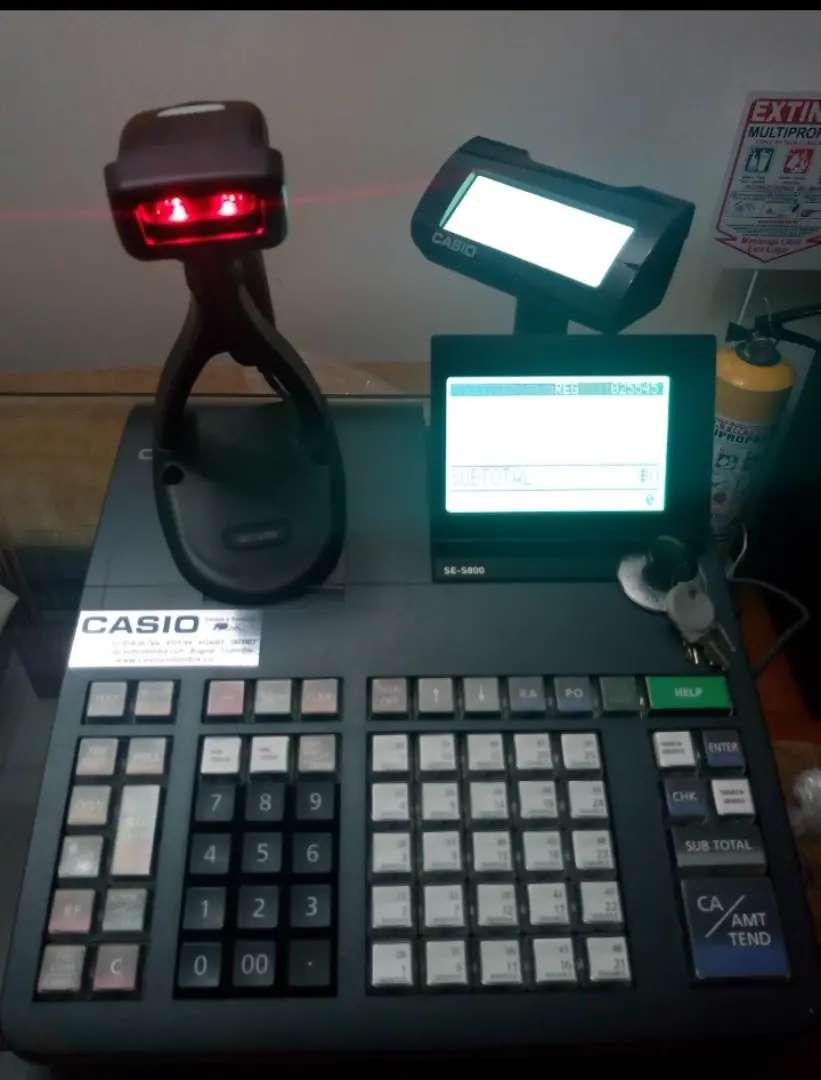 Venta de Registradora SE-S800 + Lector de código de barras marca Casio 0