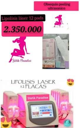 Lipolisis laser 12 pads profesional, obs, peeling