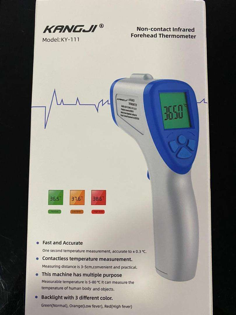 Termometro infrarojo con documentación 0