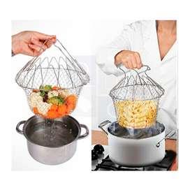 Chef Basket Deluxe 12 En 1  Herramienta De Cocina Para Freir