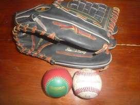 guante de baseball pro adulto Americano y 2 pelotas - en el Puyo