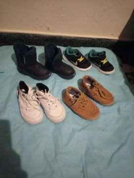 Lotesito de zapatos niño, tallas 22-23-24