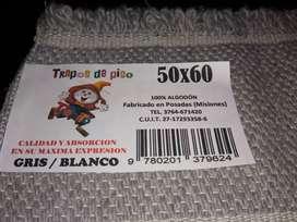TRAPOS DE PISO GRISES Y BLANCOS