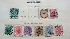 Sellos postales de Austria 1904 – 1908