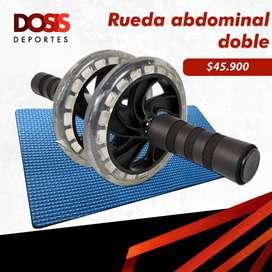 Rodillo/Rueda abdominal doble silicona