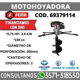 MOTOHOYADORA 5.75 HP 3.8KW 300MM DIAM DE HOYO MÁX