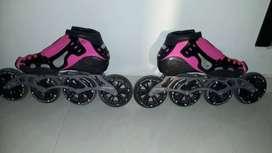 Vendo patines profesionales rosado con negro